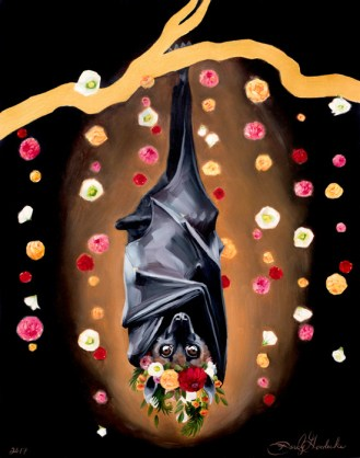 Batty Koda | Oil Painting on Panel by Darcy Goedecke